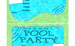 002 Awesome Microsoft Word Pool Party Invitation Template Inspiration  Templates