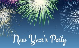 002 Awesome New Year Eve Invitation Template Inspiration  Party Free Word