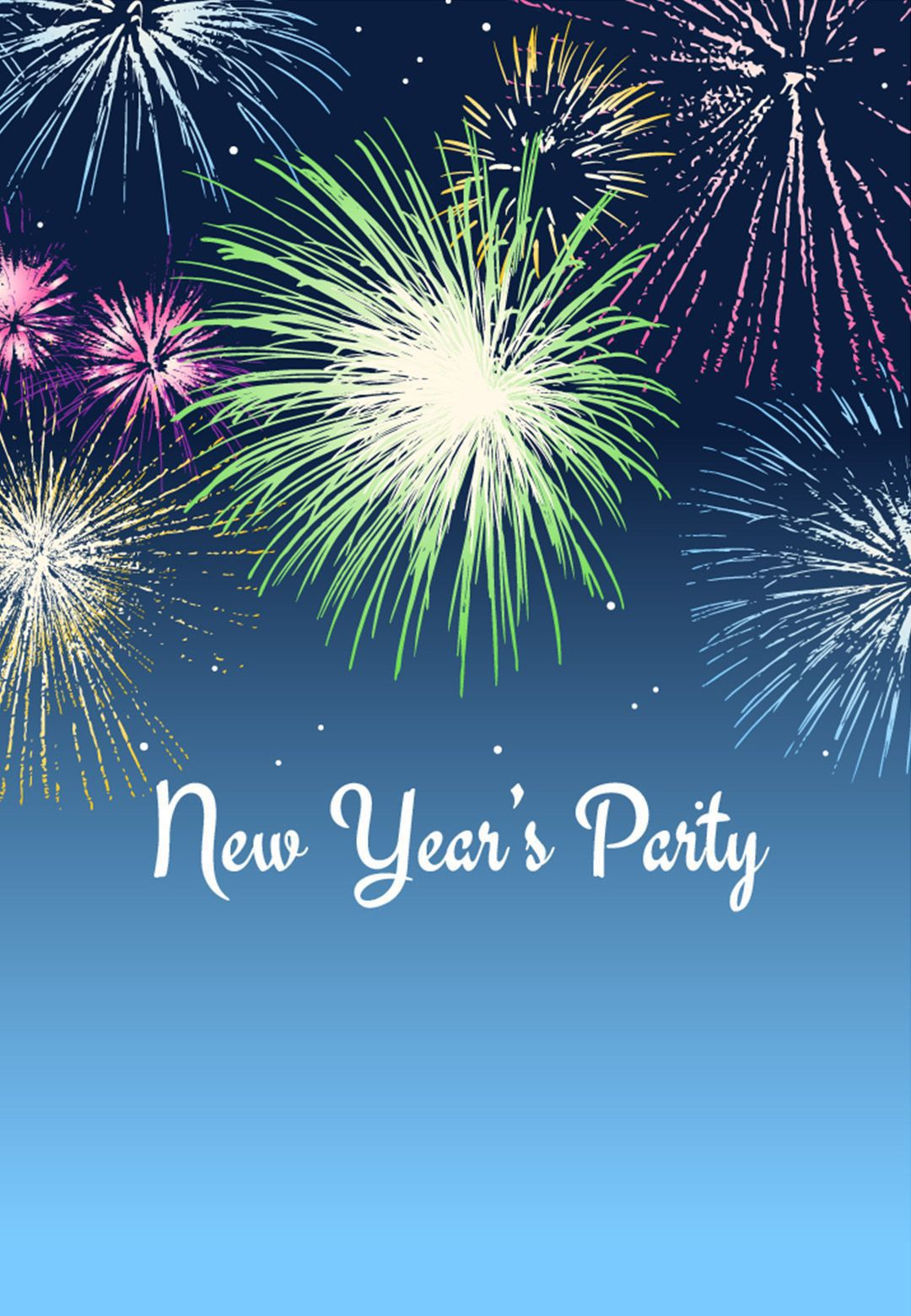 002 Awesome New Year Eve Invitation Template Inspiration  Party Free WordFull