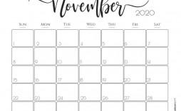 002 Awesome Printable Calendar Template November 2020 Image  Free
