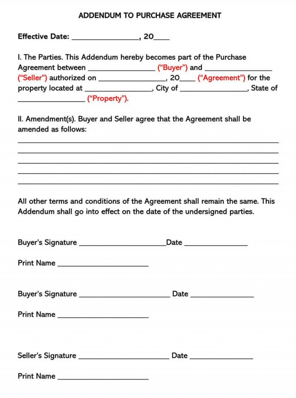 002 Awesome Purchase Agreement Template For Home Concept  MobileLarge