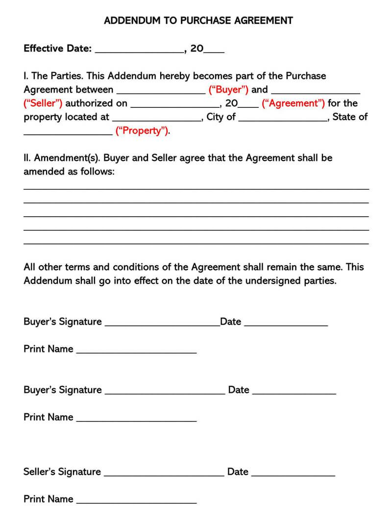 002 Awesome Purchase Agreement Template For Home Concept  MobileFull