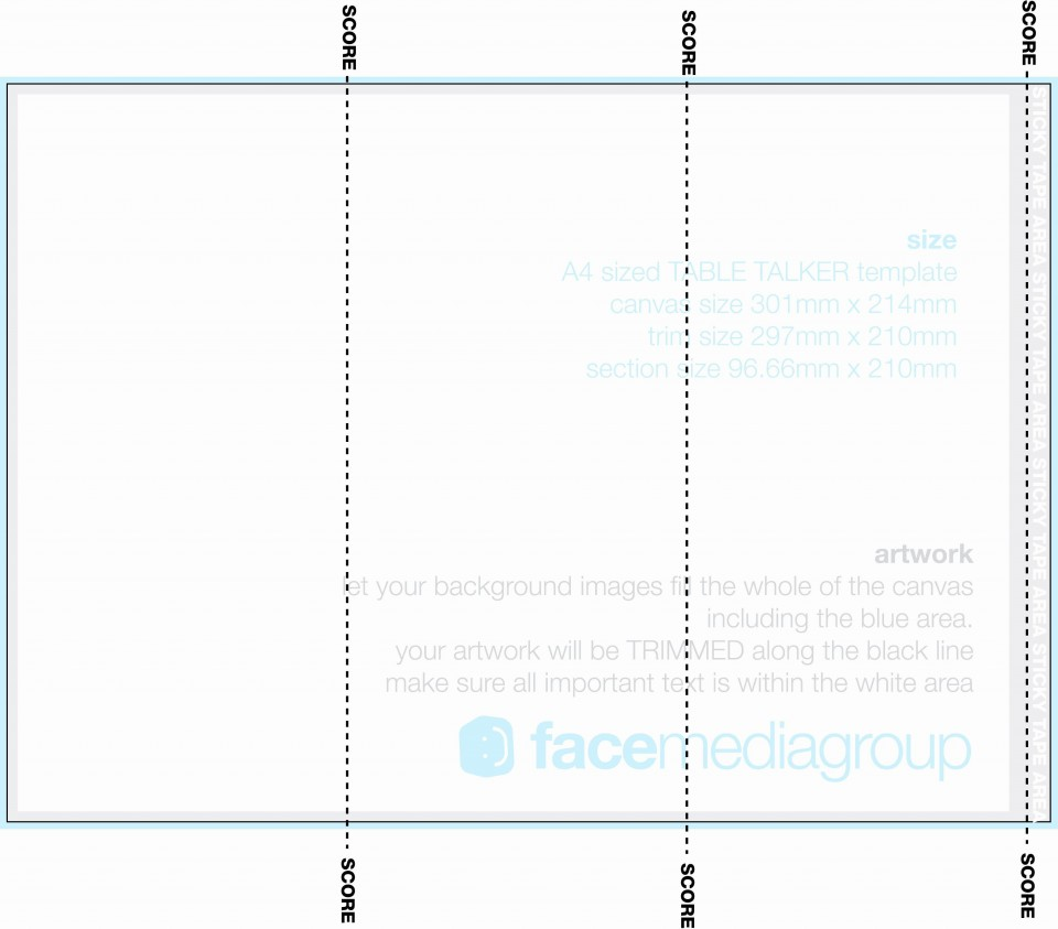 002 Awesome Tri Fold Table Tent Template High Def  Free Word960