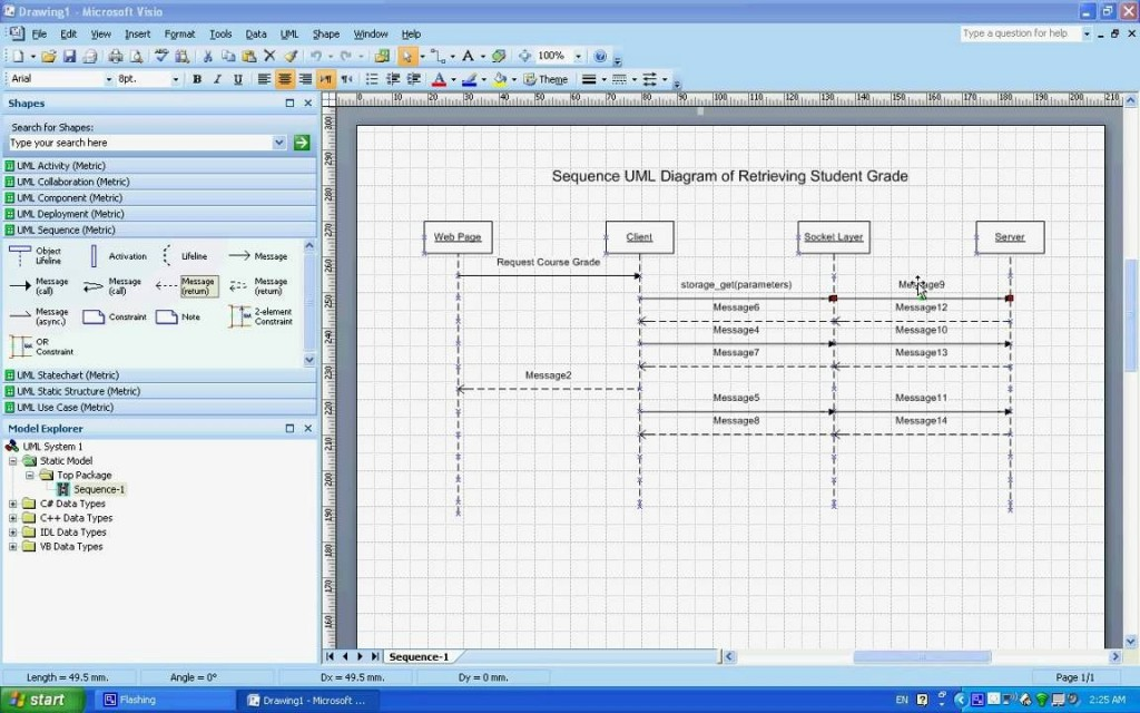 002 Awesome Uml Diagram Template Visio 2010 High Definition  Model Download ClasLarge