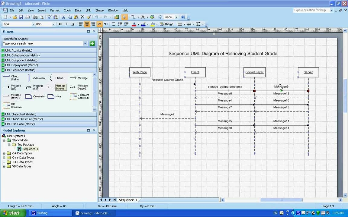002 Awesome Uml Diagram Template Visio 2010 High Definition  Model Download ClasFull