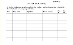 002 Awesome Visitor Sign In Sheet Template Idea  School Company Printable