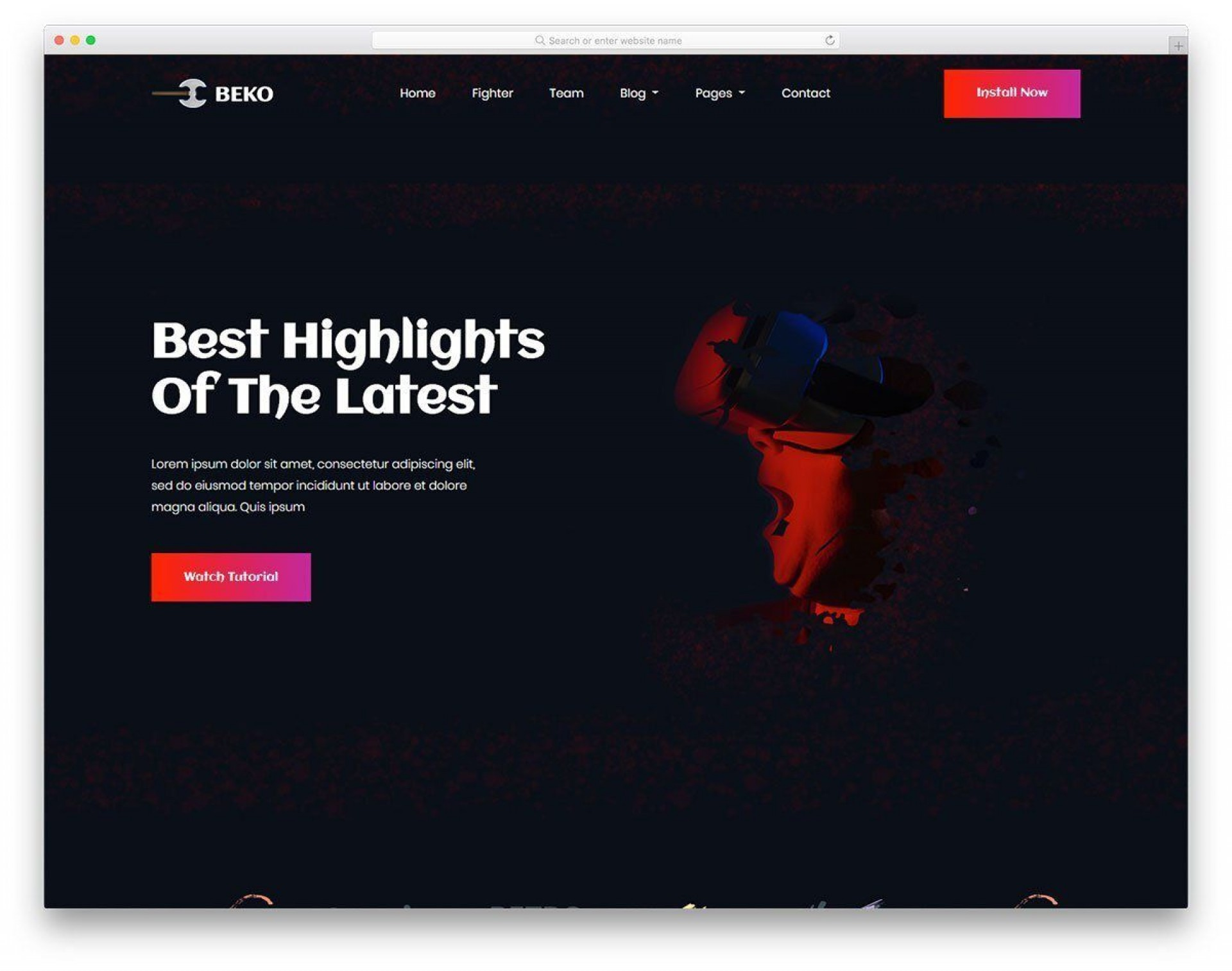 002 Awesome Web Page Design Template Cs Idea  Css1920