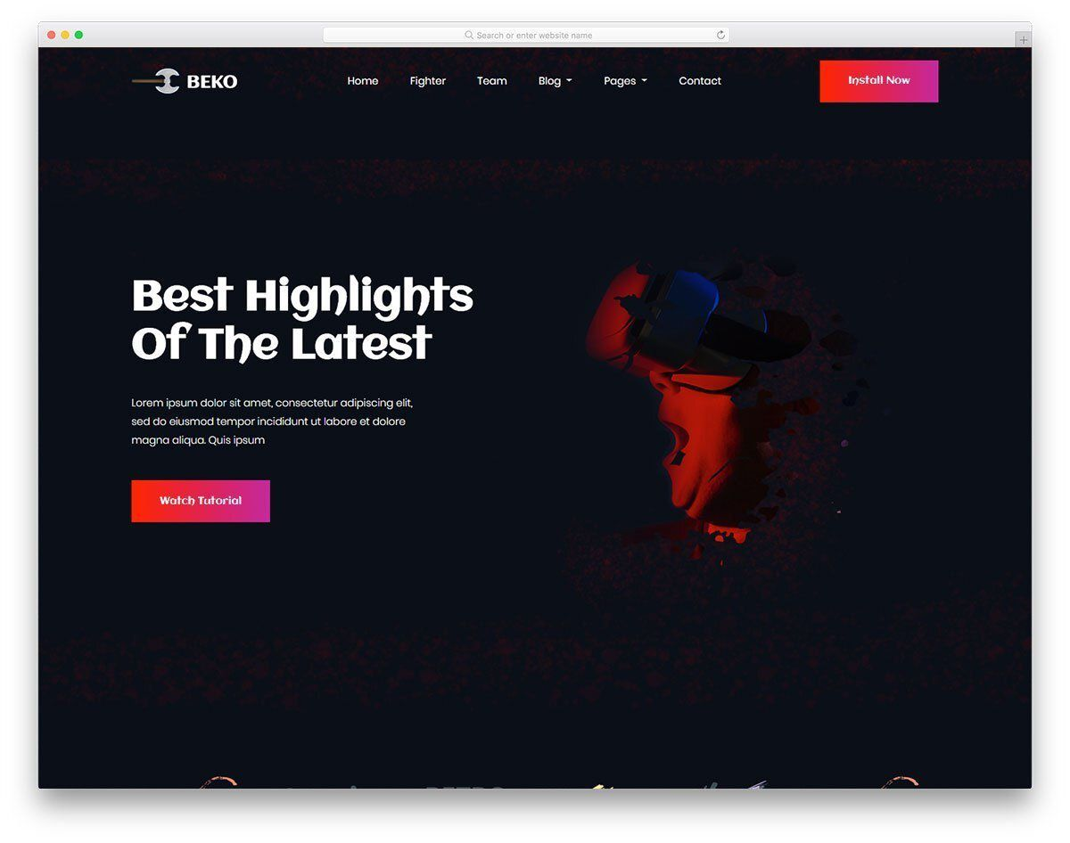 002 Awesome Web Page Design Template Cs Idea  CssFull
