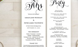 002 Awesome Wedding Order Of Service Template Image  Church Free Microsoft Word Download