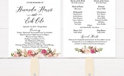 002 Awesome Wedding Program Fan Template Concept  Free Word Paddle Downloadable That Can Be Printed