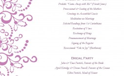 002 Awesome Wedding Reception Program Template Photo  Templates Layout Free Download Ceremony And
