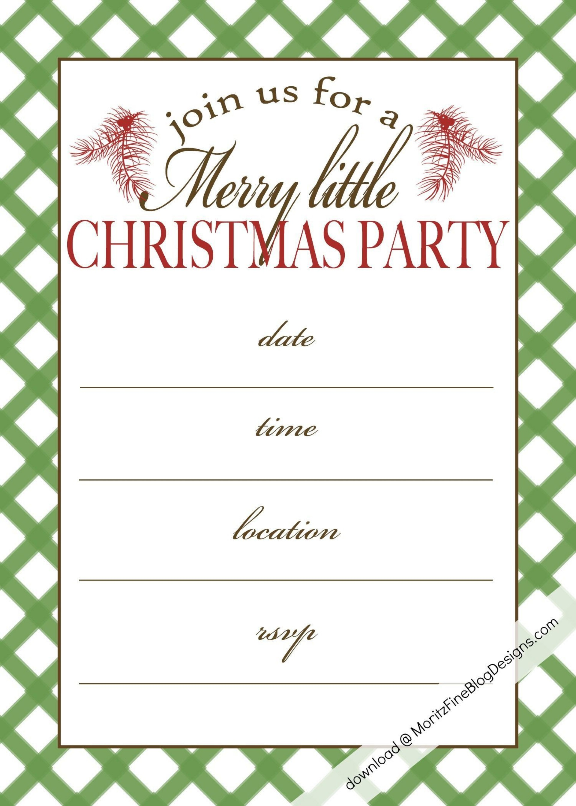002 Awesome Xma Party Invite Template Free Photo  Holiday Invitation Word Printable Office Christma Download1920