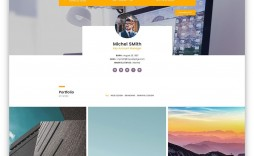 002 Awful Bootstrap Portfolio Template Free Idea  Download Website 4