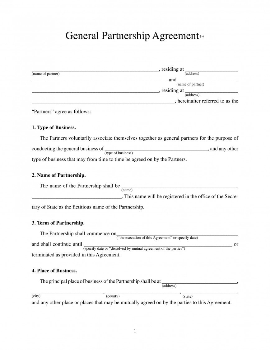 002 Awful Busines Partnership Contract Template Inspiration  Agreement Free Nz Word868
