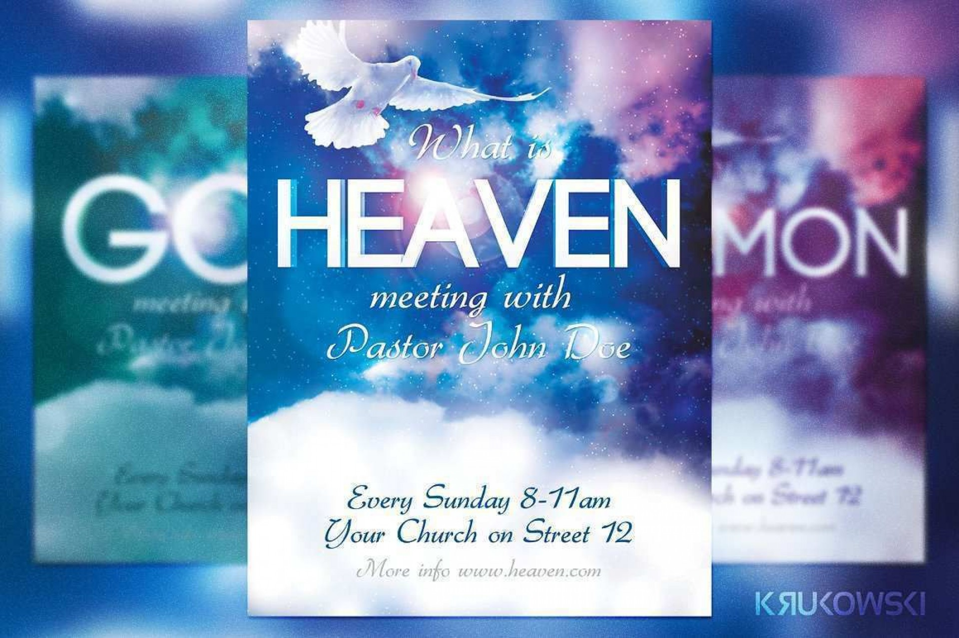 002 Awful Church Flyer Template Free Design  Easter Anniversary Conference Psd1920