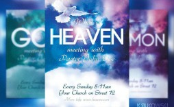 002 Awful Church Flyer Template Free Design  Easter Anniversary Conference Psd