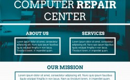 002 Awful Computer Repair Flyer Template High Resolution  Word Busines Free