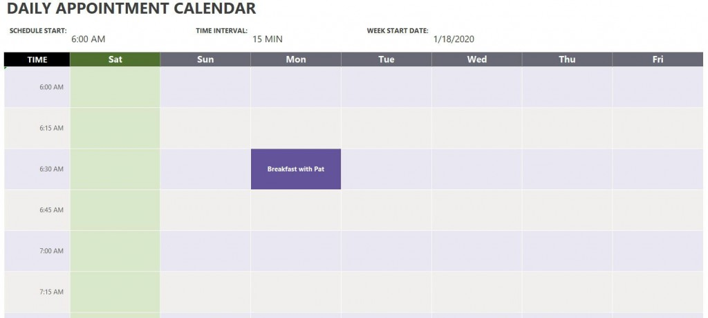 002 Awful Daily Calendar Template Excel Highest Clarity Large