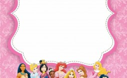 002 Awful Disney Princes Invitation Template High Definition  Downloadable Party Free Printable Birthday