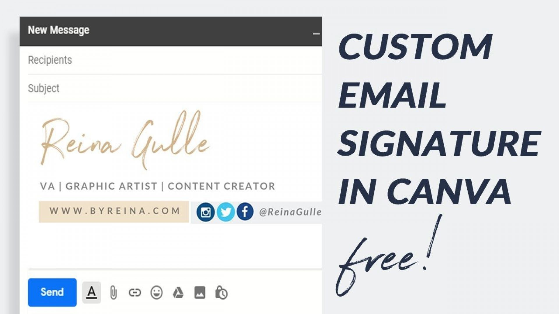 002 Awful Free Email Template For Gmail Photo  Signature1920