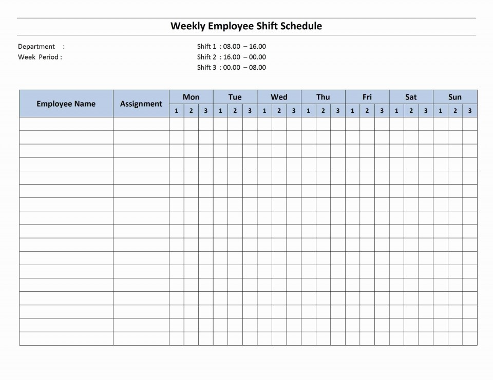 002 Awful Free Excel Staff Schedule Template Sample  Monthly Employee Shift Holiday Planner Uk960