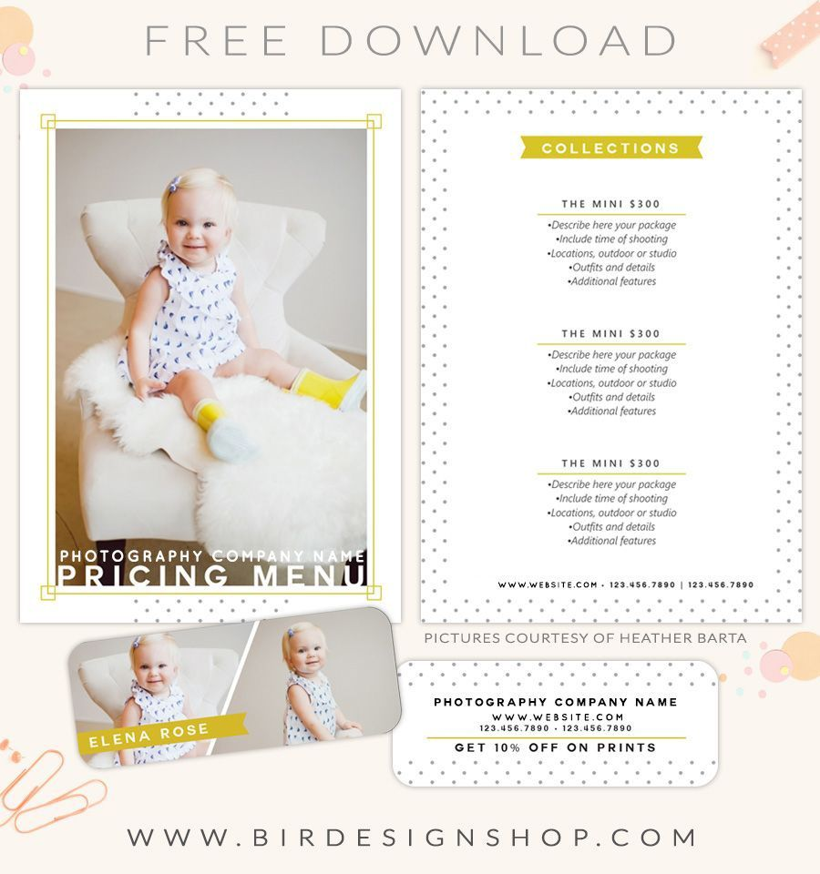 002 Awful Free Photography Package Template Highest Quality  PricingFull