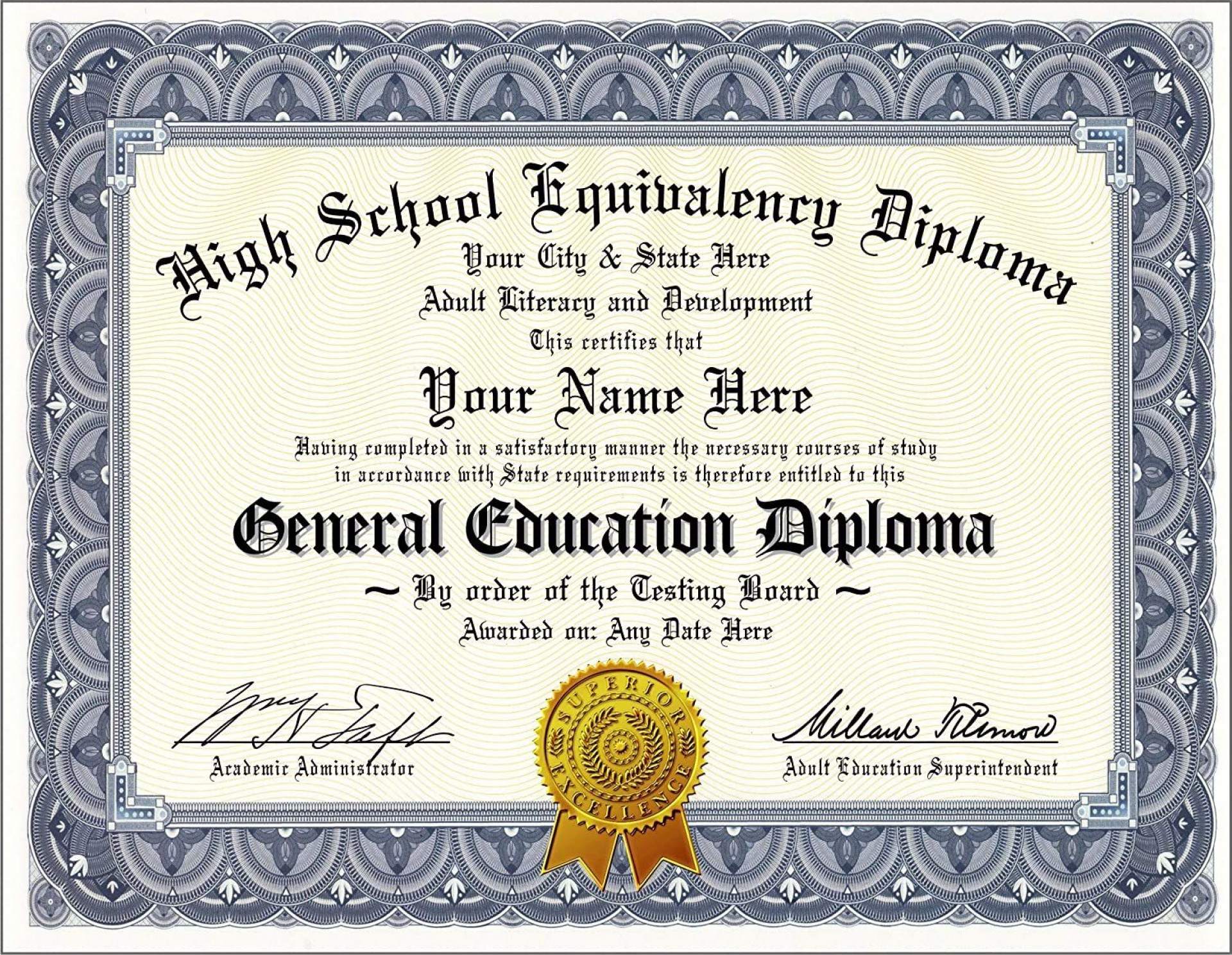 002 Awful Free Printable High School Diploma Online Example 1920