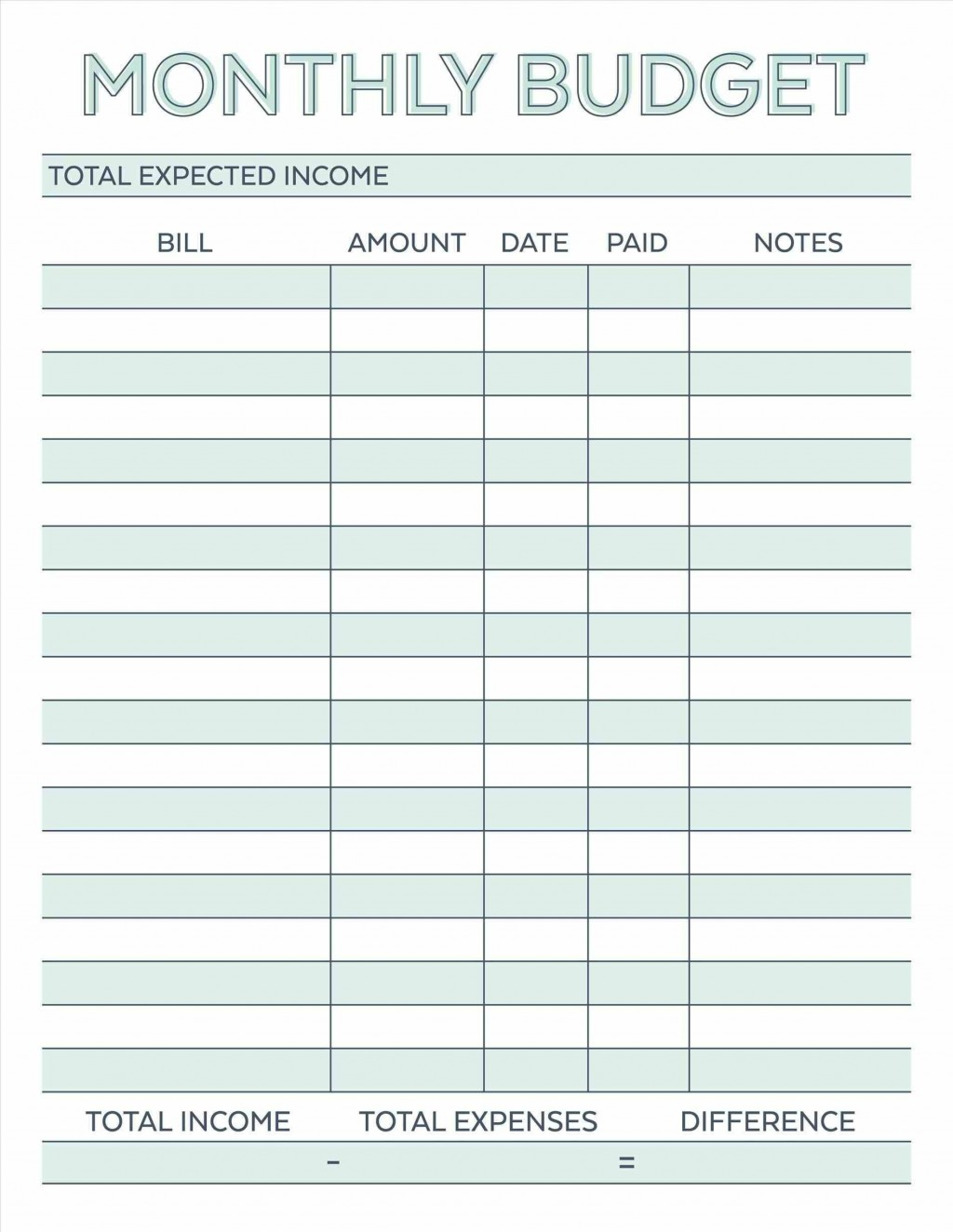 002 Awful Free Simple Monthly Household Budget Template Idea Large