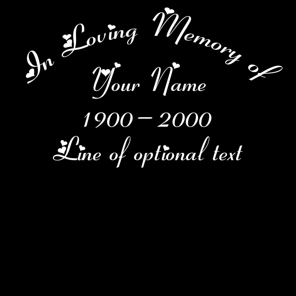 002 Awful In Loving Memory Decal Template High Def  TemplatesLarge