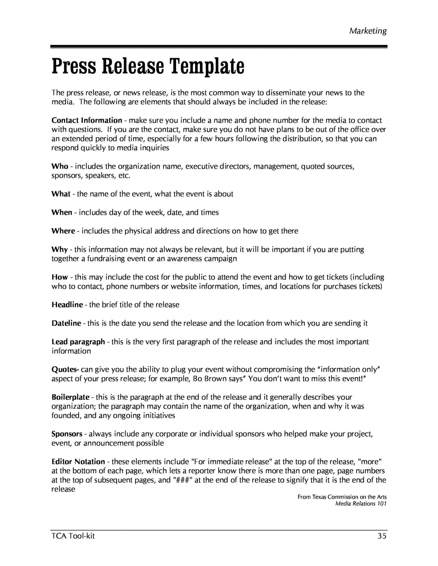 002 Awful Pres Release Template Free Concept  Google Doc Download1400