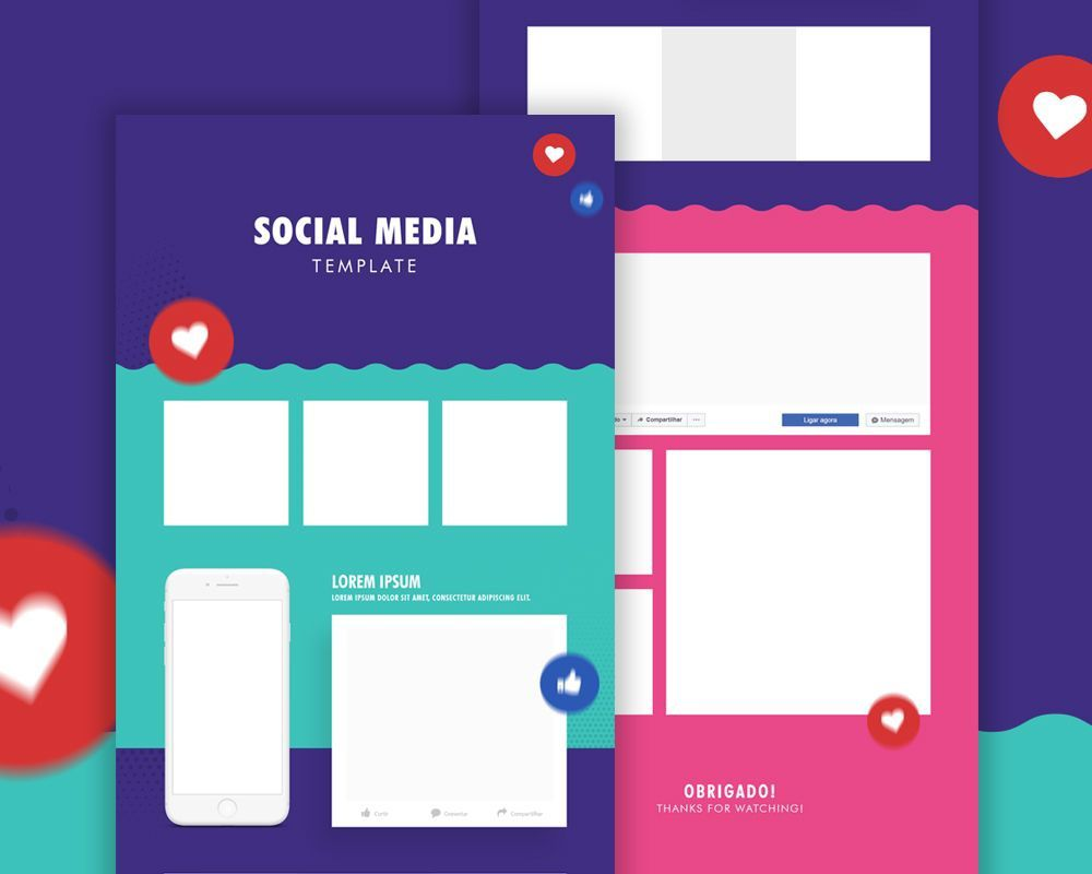 002 Awful Social Media Template Free Psd Highest Clarity  DownloadFull