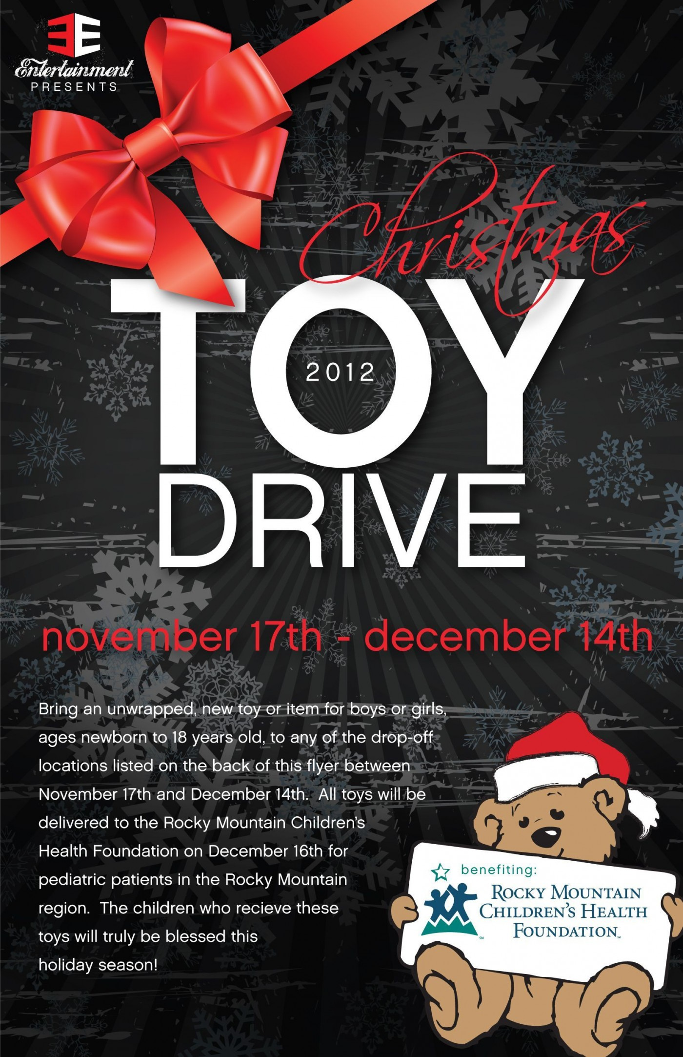 002 Awful Toy Drive Flyer Template Free Design  Download Christma1400