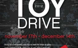 002 Awful Toy Drive Flyer Template Free Design  Christma Download