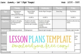002 Awful Weekly Lesson Plan Template High School Def  Free For Math Example History
