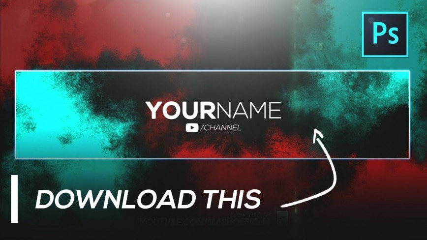 002 Awful Youtube Channel Art Template Photoshop Download Photo