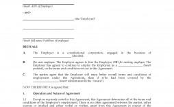 002 Beautiful Australian Employment Contract Template Free High Resolution