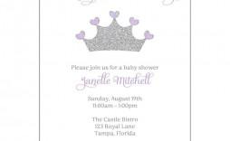 002 Beautiful Baby Shower Invitation Girl Purple Highest Quality