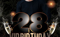 002 Beautiful Birthday Flyer Template Psd Free Download High Definition