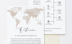 002 Beautiful Destination Wedding Welcome Letter And Itinerary Template Image