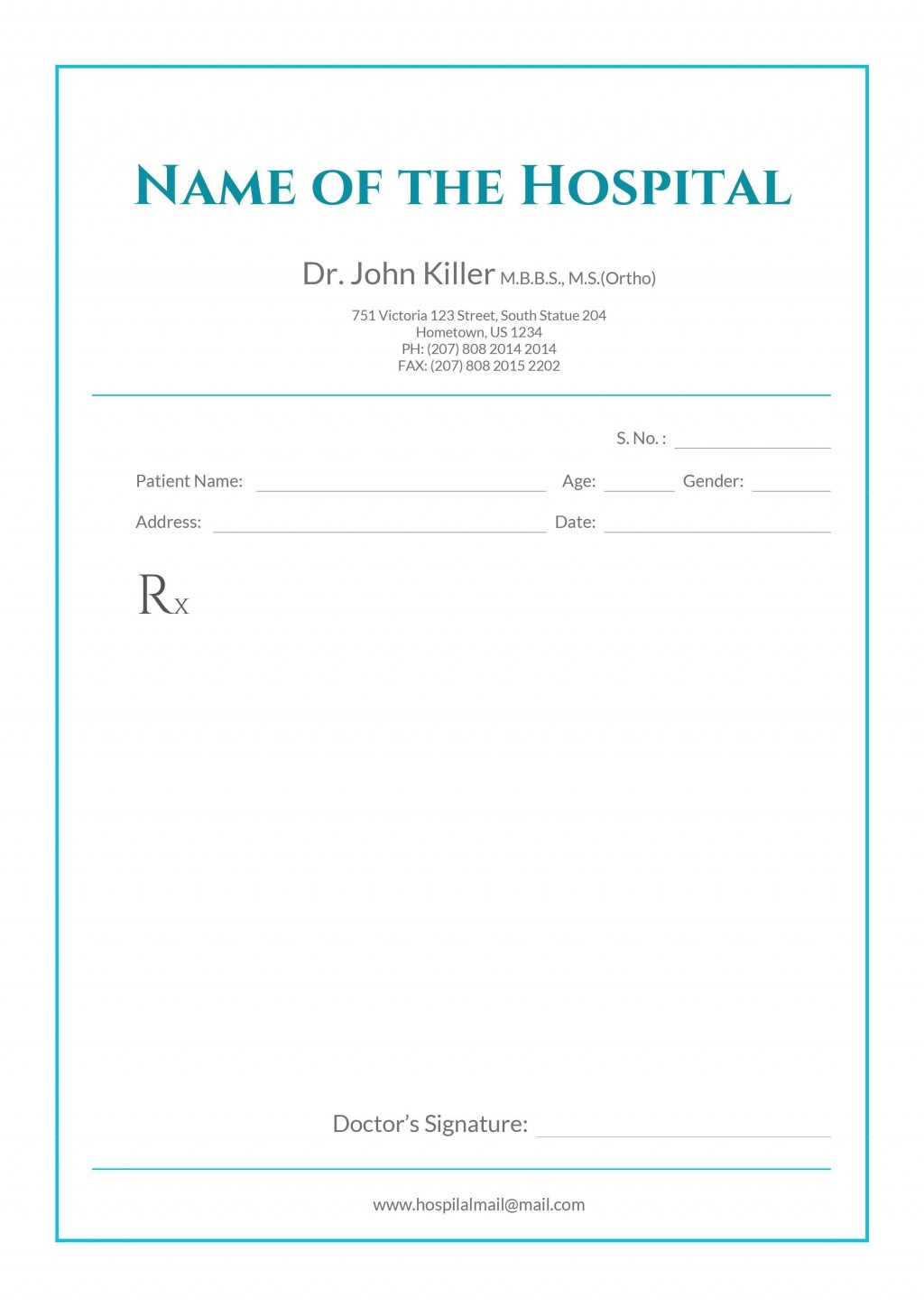 002 Beautiful Doctor Letterhead Format In Word Free Download High Resolution  DesignLarge
