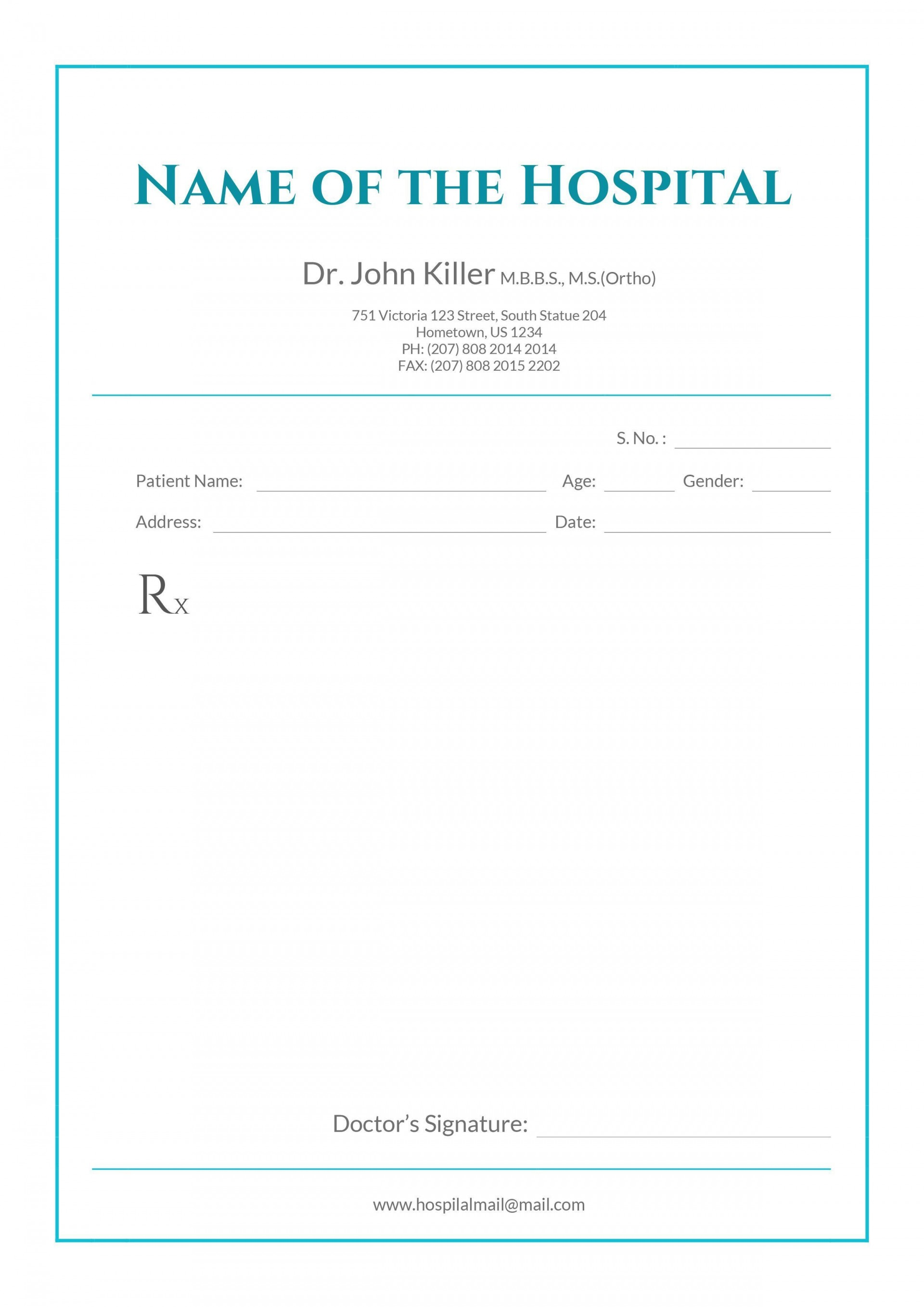 002 Beautiful Doctor Letterhead Format In Word Free Download High Resolution  Design1920