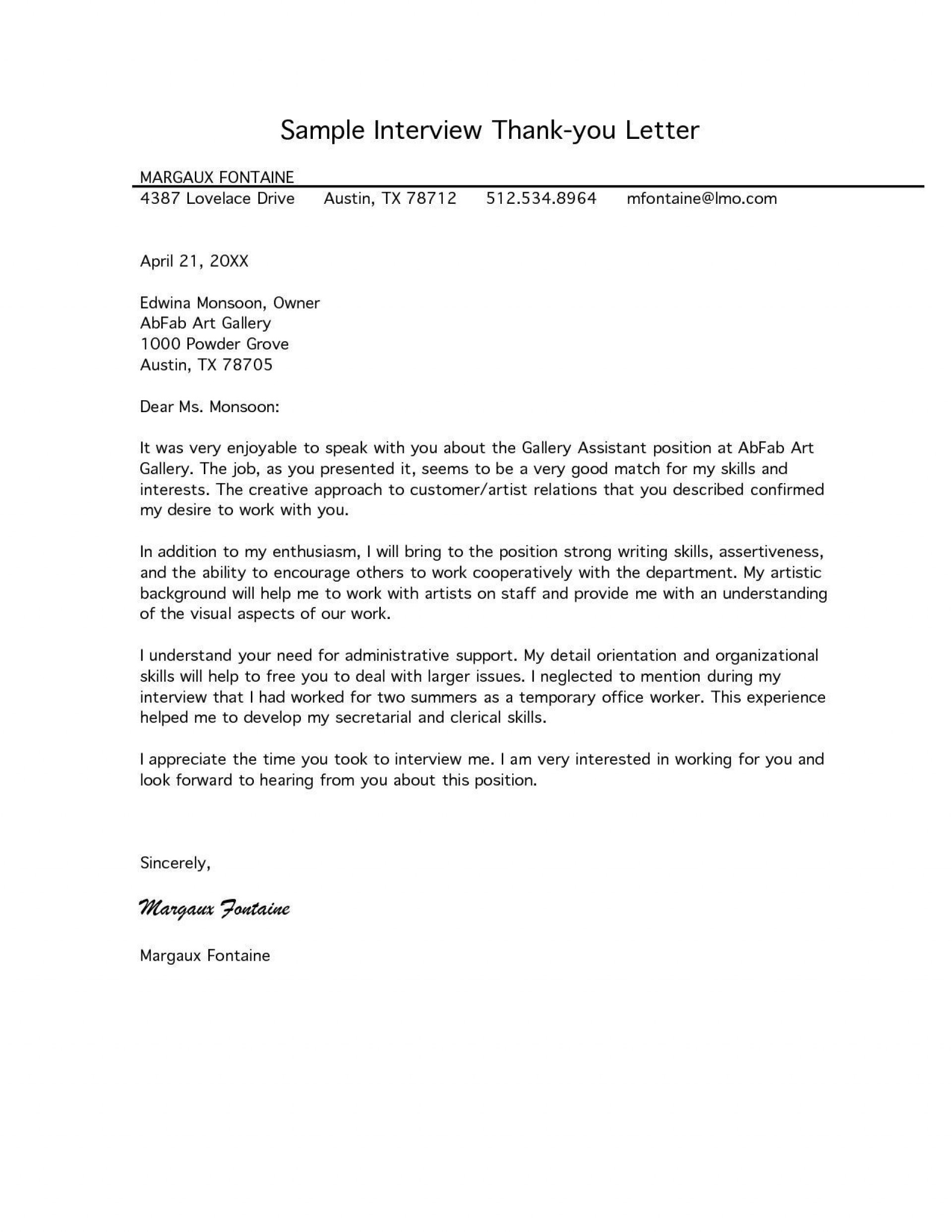 002 Beautiful Follow Up Letter After Interview Sample  Handwritten Note Email For Job Template1920
