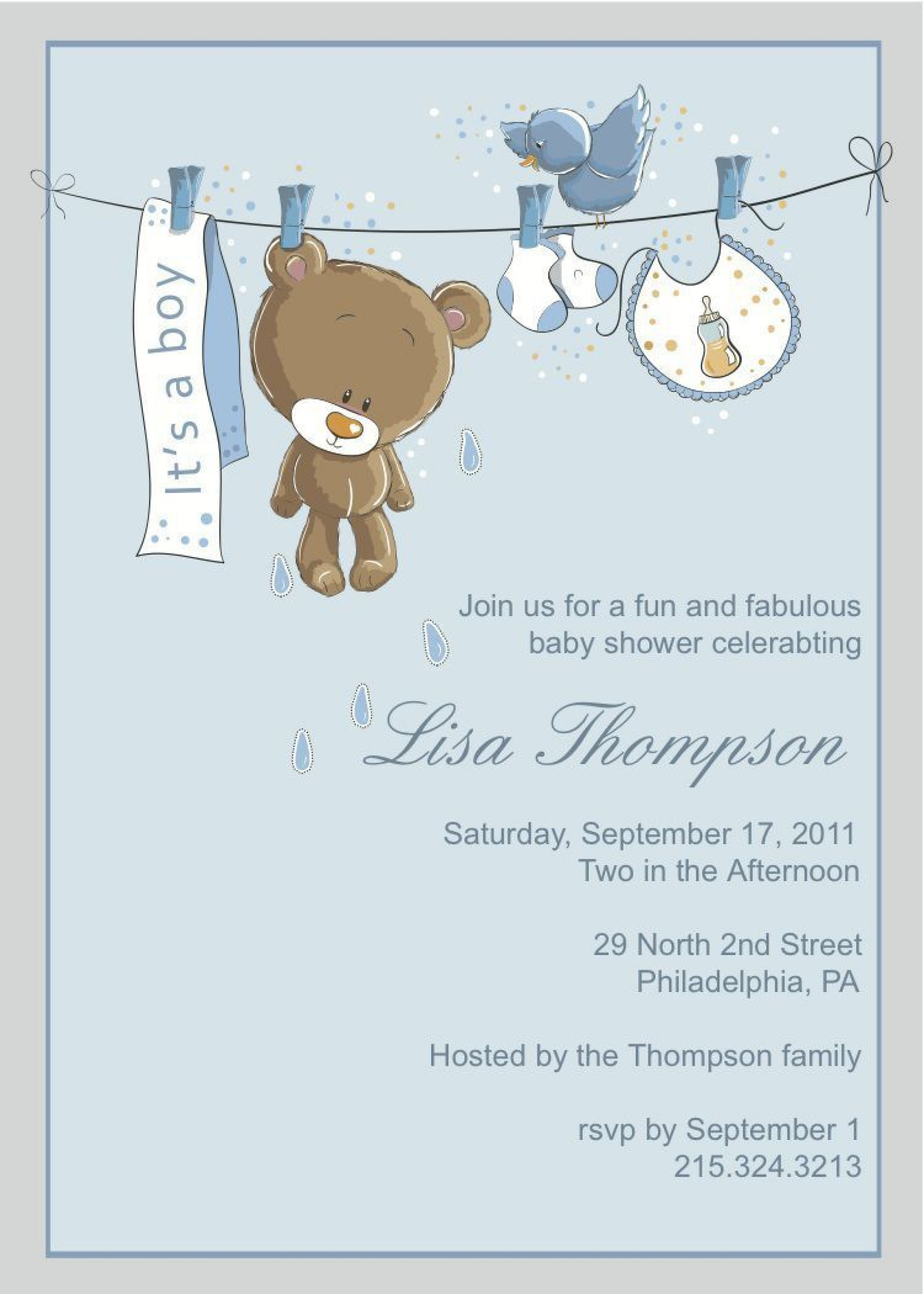 002 Beautiful Free Baby Shower Invitation Boy Example  For Twin And Girl Printable1920