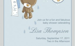 002 Beautiful Free Baby Shower Invitation Boy Example  For Twin And Girl Printable