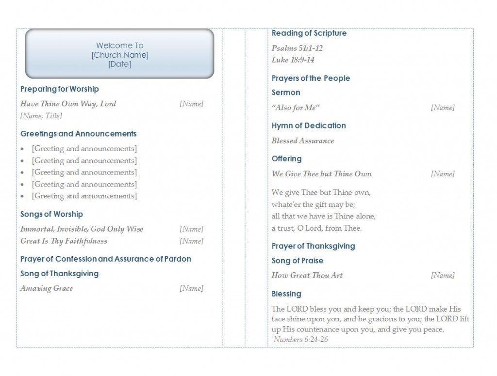 002 Beautiful Free Church Program Template Download Highest Quality  DownloadsFull