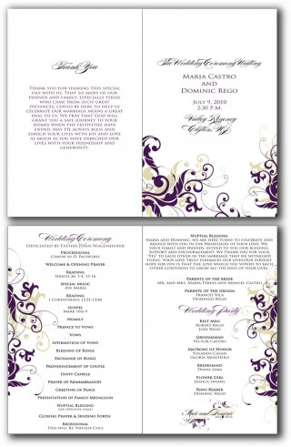 002 Beautiful Free Editable Church Program Template Design 320