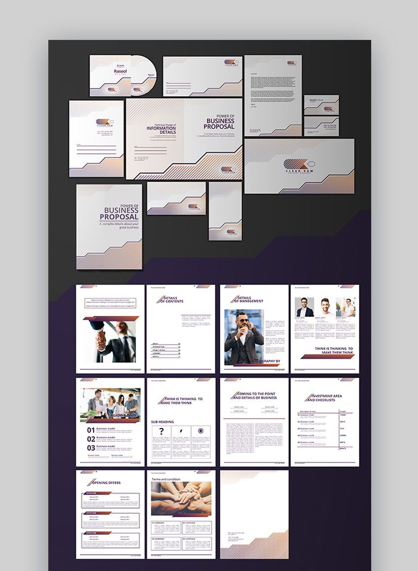 002 Beautiful Graphic Design Proposal Template Word Photo Full