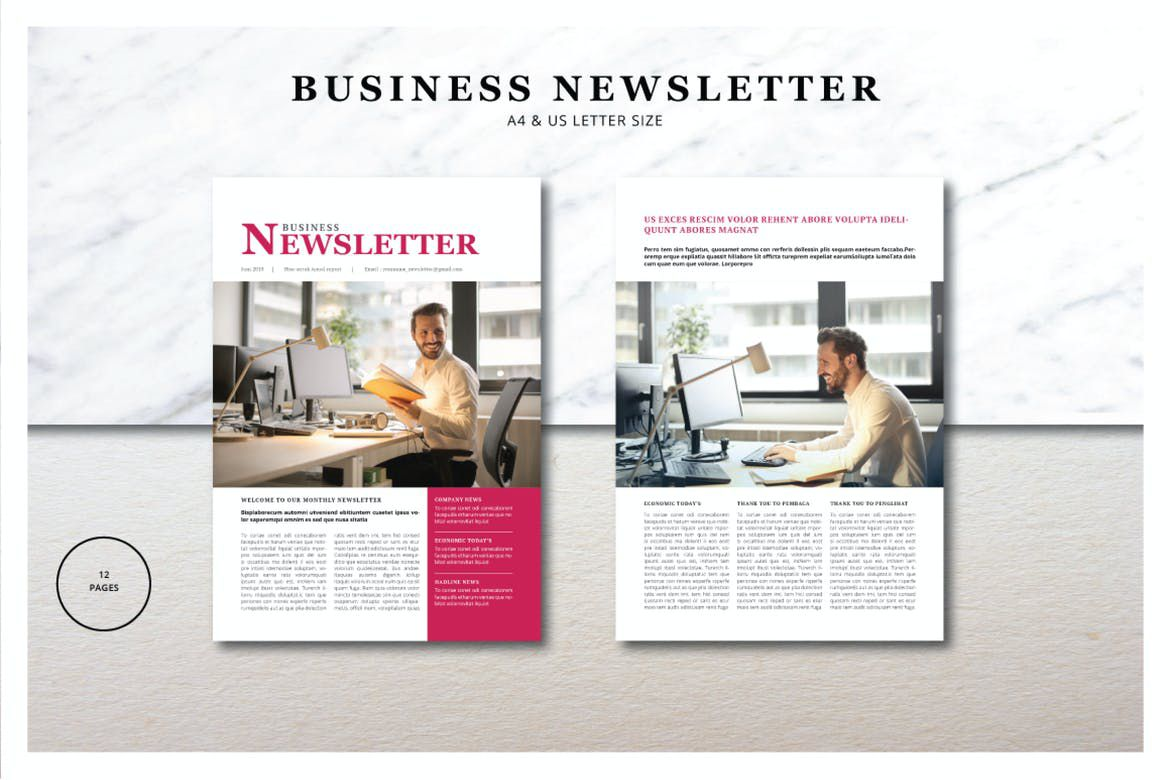 002 Beautiful Indesign Cs6 Newsletter Template Free Download Concept Full