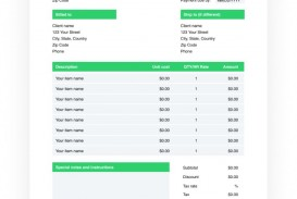 002 Beautiful Invoice Excel Example Download High Def