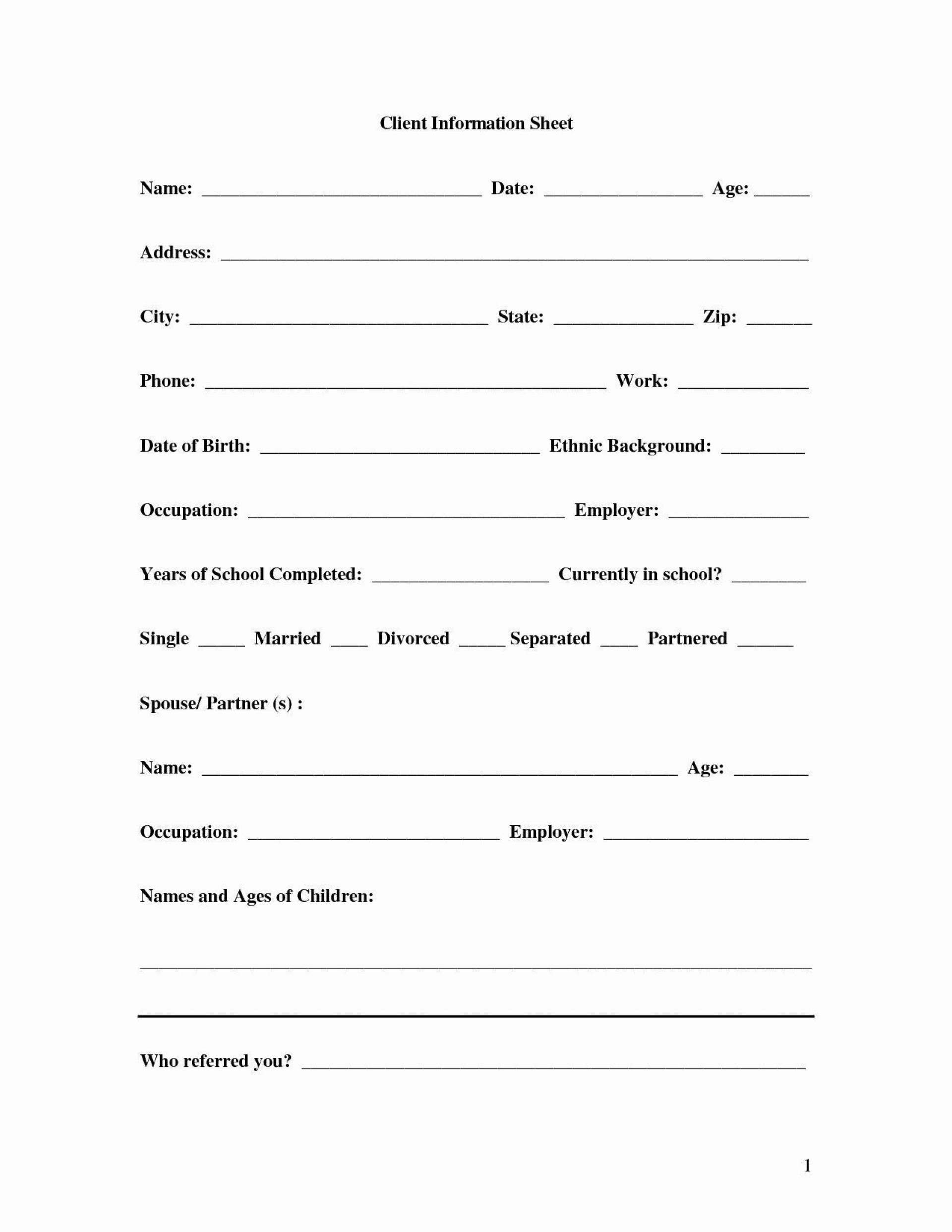 002 Beautiful New Client Form Template Accounting High Def  Uk1920